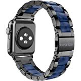 Wearlizer Black Blue Bands Compatible with Apple Watch Straps 42mm 44mm for iWatch SE Mens Womens Wristband Lightweight…