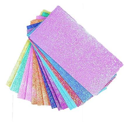 Amazon Com 10 Vivid Colors 50 Sheets Shining Folding Solid Color
