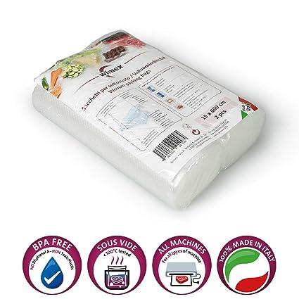 Wimex Bolsas AL Vacío para Alimentos. 2 Rollos 15 x 600 cm ...