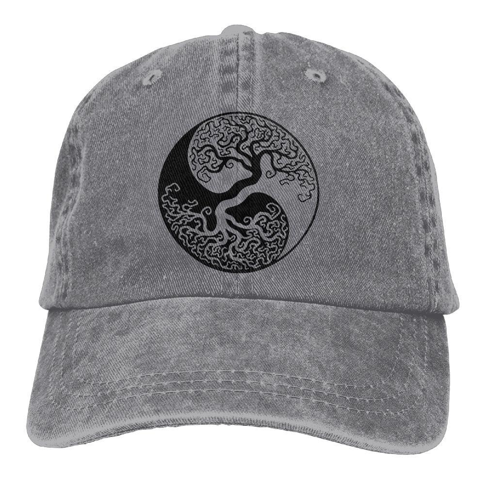 QQQWZH-A Bonsai Tree On The Yin Yang Symbol Fishing Jean headgear