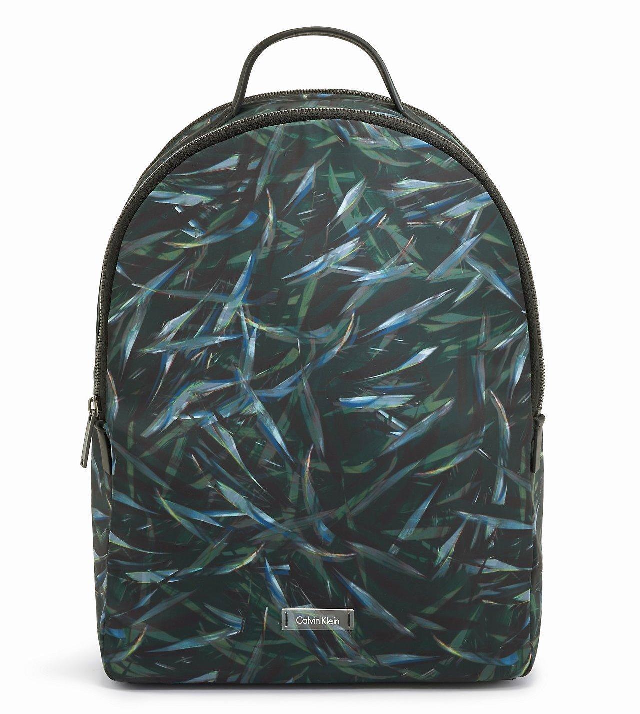 Calvin Klein Mens Tech Jaylen Leaf Print Travel Backpack Bag