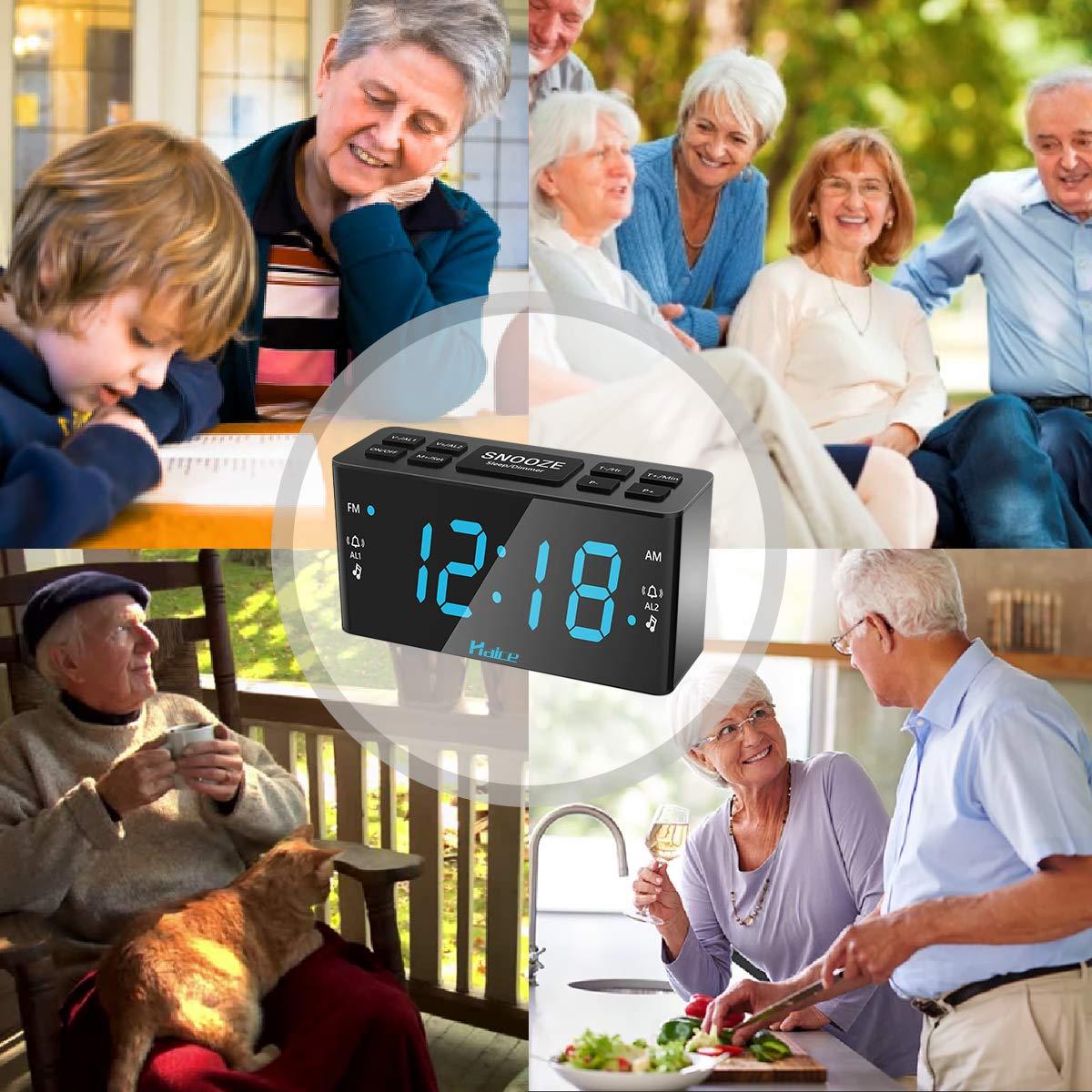 [Nueva Versión] Radio Despertador Digital, Haice Digital Radio Reloj con Alarma Doble Despertador Reloj Digital FM/AM con función de Luz Nocturna, ...