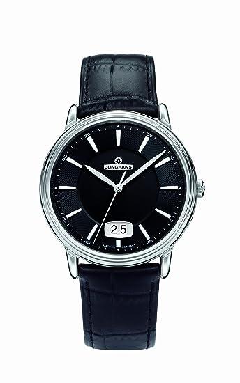 Junghans ANYTIME DIPLOMAT 041/4881.00 - Reloj de caballero de cuarzo, correa de piel