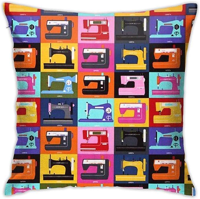 tiao9143 Máquina de Coser Cojines Decorativos Cuadrados Fundas de cojín Funda de cojín para el sofá del hogar Dormitorio Oficina Coche 18 X 18 Pulgadas 45 X 45 cm Fundas de Cojines: Amazon.es: Hogar