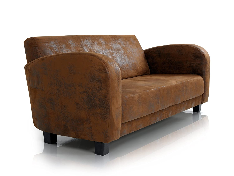 Moebel-eins ANTO Sofa 3-Sitzer Gobi braun