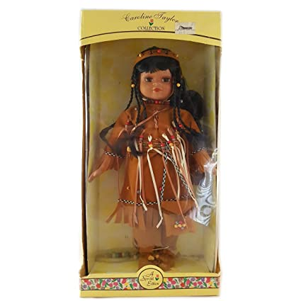 RARE Vintage Native American Indian Doll Handmade  Leather Figure 24 Inch Signed Puppen & Zubehör
