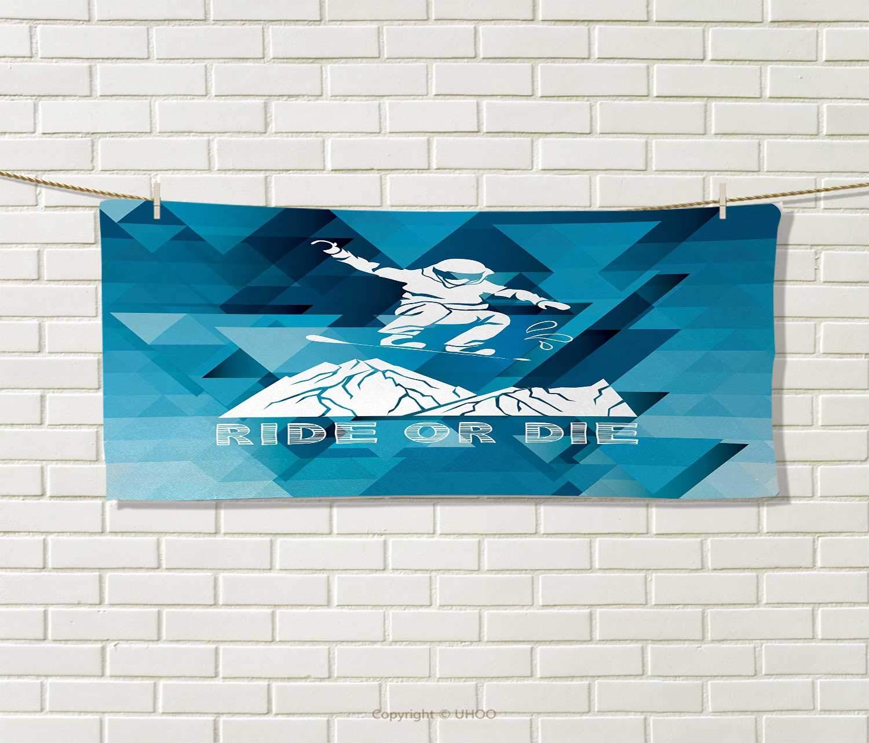 Anniutwo 抽象画 タオル ウェーブ ストライプ パターン カラフル 縦型 モザイク デジタル コンポジション 速乾 プリント マイクロファイバー製 マルチカラー サイズ:幅10インチ x 長さ10インチ W 14