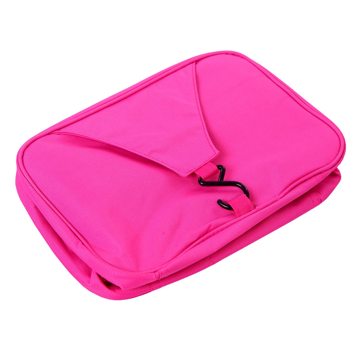 b02131fe19bc HDE Personal Travel Shower Organizer Hanging Toiletry Wash Bag Bathroom  Tote (Hot Pink)