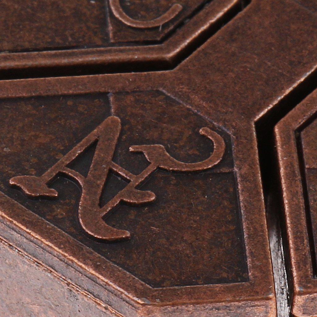 8pcs Schl/össel Puzzel-A Knobelspiele Brainteaser Puzzle Metallpuzzle f/ür Kinder Erwachsene Sharplace 3D-Schl/össer Gehirn IQ Metall Knobelei