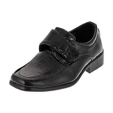 3caa283cb182a5 ALIZEA Festliche Jungen Anzug Schuhe Leder Innensohle Klettverschluss Glanz  Hochzeit  Amazon.de  Schuhe   Handtaschen