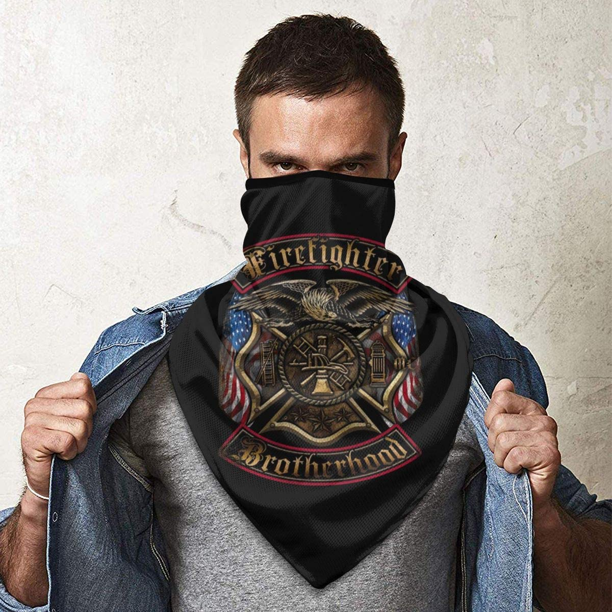 Firefighters Brotherhood Outdoor Face Mouth Mask Windproof Sports Mask Ski Mask Shield Scarf Bandana Men Woman