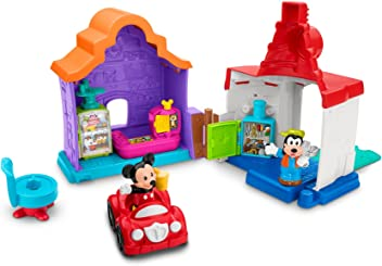 Fisher-Price Little People Magic of Disney Mickey & Goofy's Gas & Dine Playset