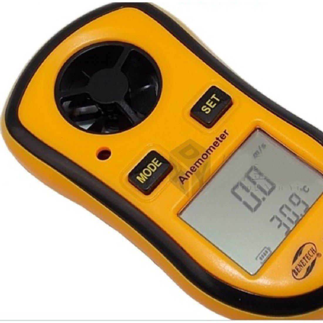 Ray-JrMALL Orange Measure Handheld LCD Digital Anemometer Air Wind Speed Meter Tester