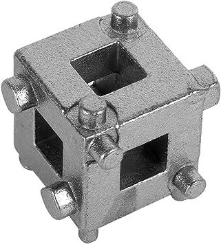 Silver Universal Car Vehicle Rear Drive Disc Brake Piston Remover Tool Caliper Wind Back Cube Calliper Adaptor 3//8 Disc Brake Piston Spreader Tool