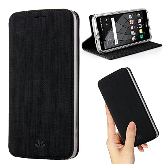 check out 7f2fe 6b5ed Moto G6 Case,Premium Flip Leather Wallet Case Stand Kickstand Card Slot  Magnetic Full Body Protective Cover Clear TPU Bumper Thin Case for Motorola  ...