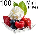 "Zappy 100 Mini Dessert Plates 2.5"" x 2.5"" 100"