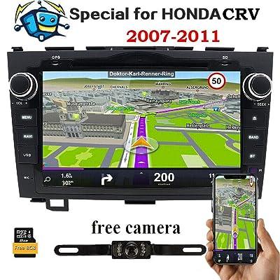20,3 cm pour Honda CRV CR-V 2007 2008 2009 2010 2011 en Tableau de Bord HD écran Tactile Lecteur DVD GPS Navigation Stéréo Bluetooth/SD/USB/RDS/FM/AM Radio/AV-IN/1080P/Mirrorlink Map BackupCamera High-tech