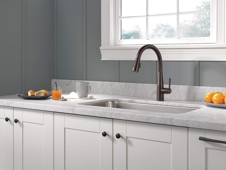 Delta Faucet Essa Single-Handle Kitchen Sink Faucet with ...