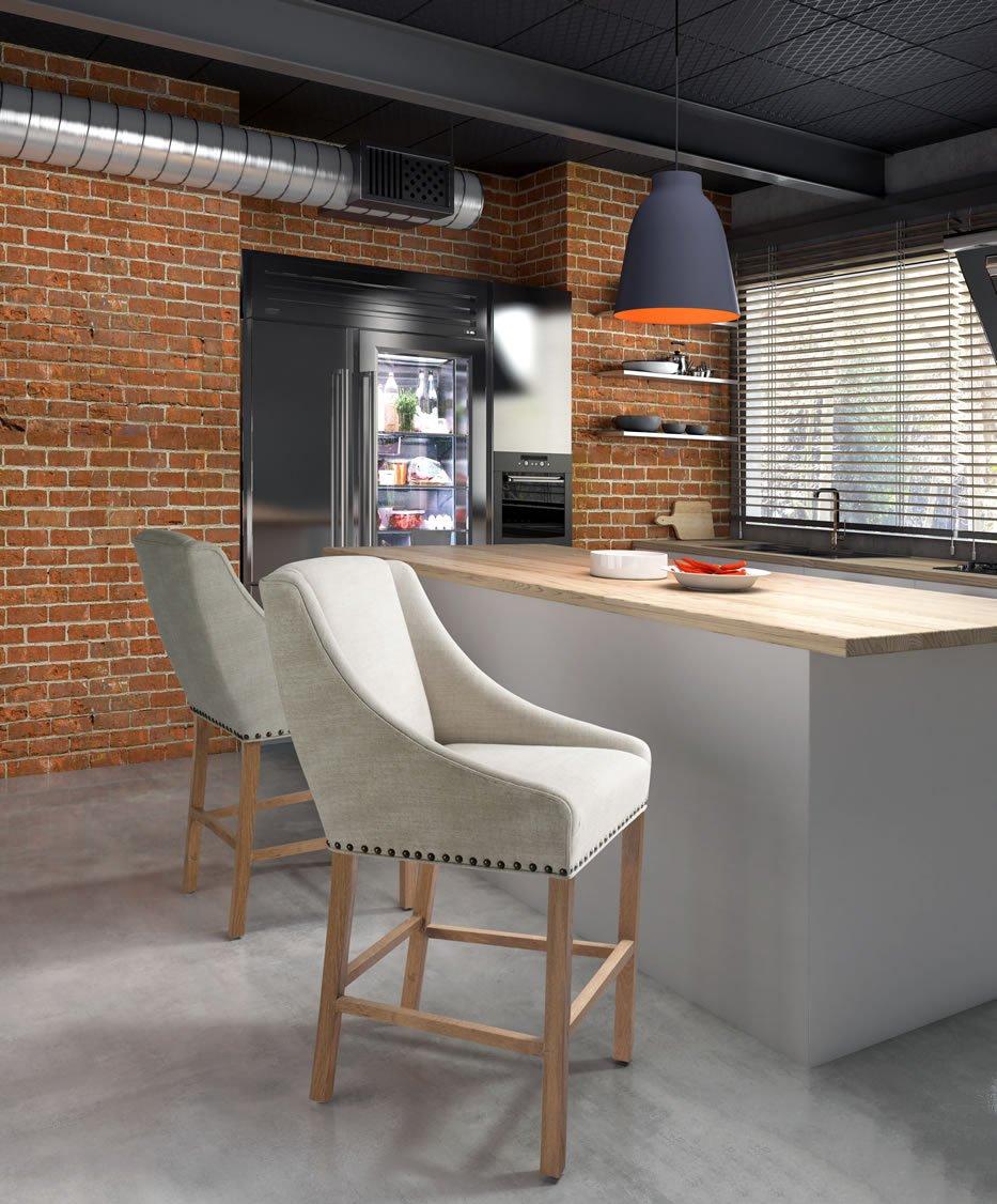 Zuo Modern Indio Bar Chair, Beige