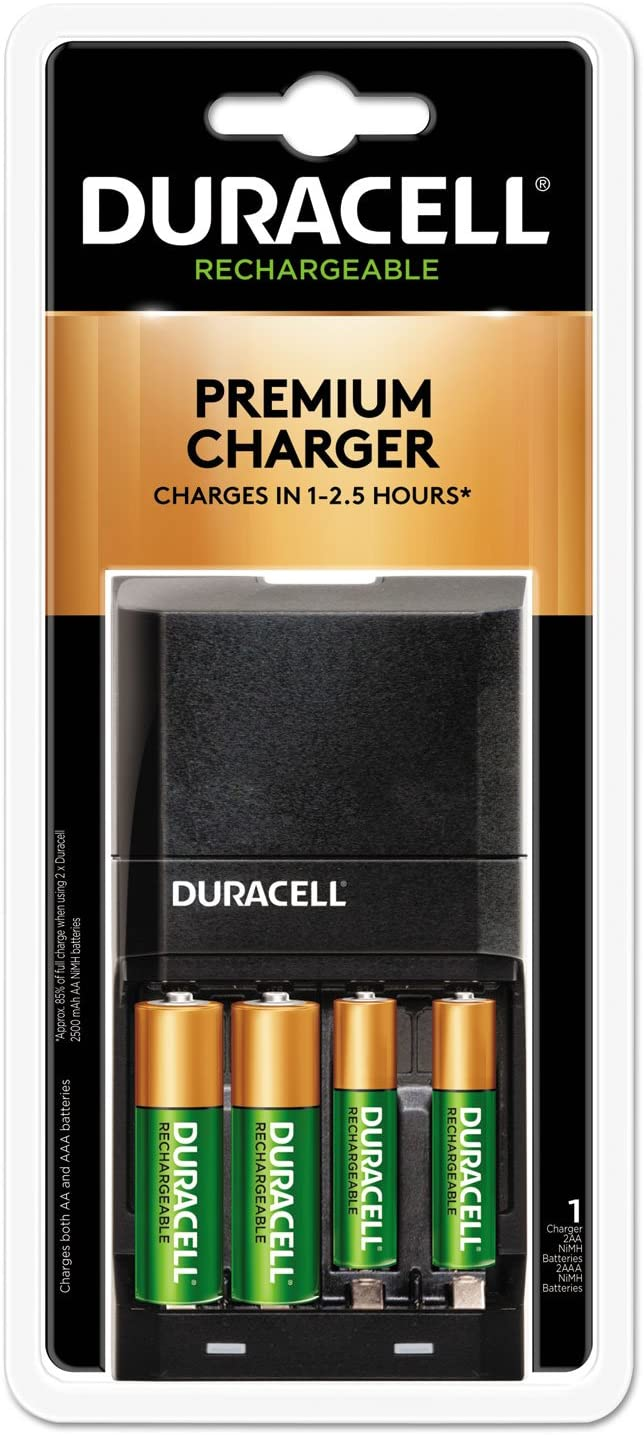 Amazon Com Duracell Cef27 Ion Speed 4000 Hi Performance Charger Includes 2 Aa And 2 Aaa Nimh Batteries Health Personal Care