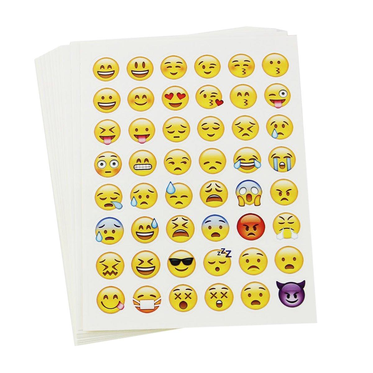 diari quaderni e tanto altro Kit di 20 Adesivi decorativi con Faccine espressive // smile // emoticons OULII per bambini e adulti perfette per decorare il tuo cellulare