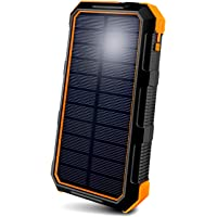 ToughTested BigFoot Portable Solar Charger with 4-Mode LED Flashlight | IP67 All Weather, High Efficiency Solar Panel…