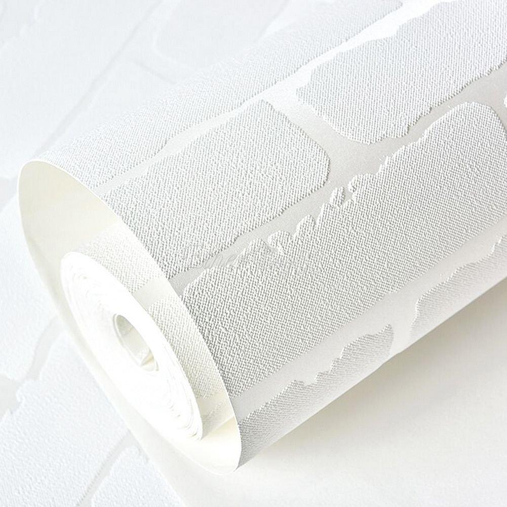 amovible Peel et b/âton 3d Blanc Brique Rouleau de papier peint Brique Autocollant Tissu non tiss/é Home Decor Papier mural 52,5/x 495,3/cm