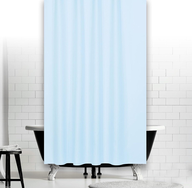 Duschvorhang überlänge überlänge textil duschvorhang hellblau 240 x 230 hoch perfekt für