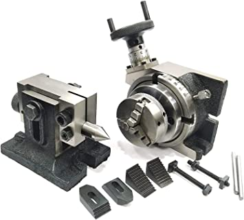 TAILSTOCK /& M6 CLAMPING KIT SET TILTING ROTARY TABLE 4//100mm WITH 50mm CHUCK