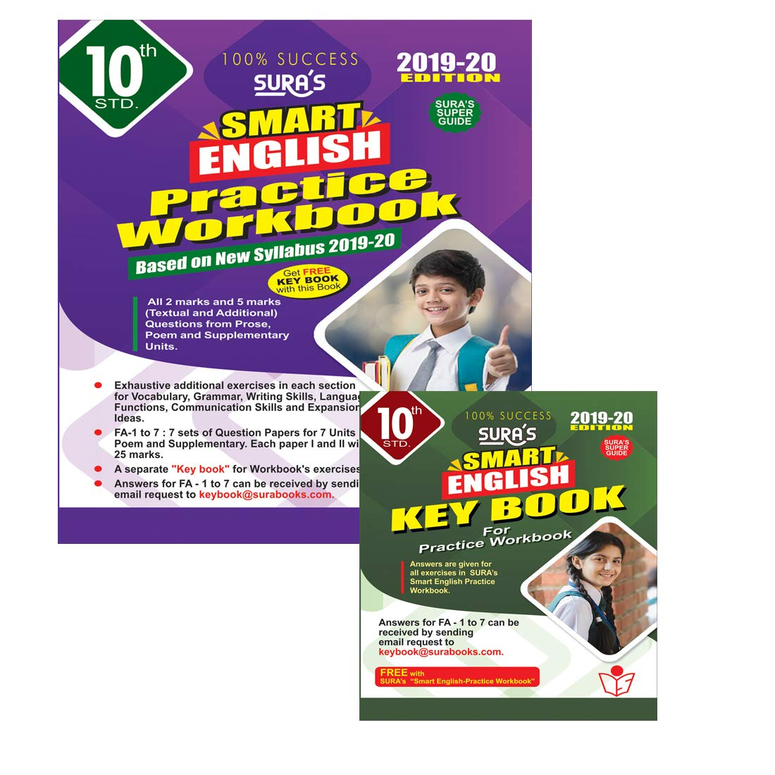 Buy 10th Std English Guide and Work Book With Question Bank