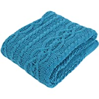 Battilo Shibles Knitted Luxury Chenille Throw Blanket for Sofa and Couch, Lightweight, Soft & Cozy Knit Throws