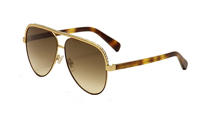 8ce92bbfe85f Jimmy Choo Lina Sunglasses Rose Gold Brown Gradient at Amazon ...