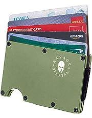 Savage Spartan Military Wallet   Slim, RFID-Blocking Tactical EDC Card Holder for Minimalist Men