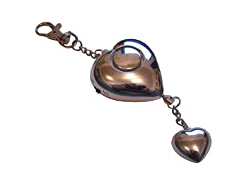 Heart shaped attack rape security personal alarm amazon heart shaped attack rape security personal alarm metallic silver with heart shaped pendant aloadofball Images