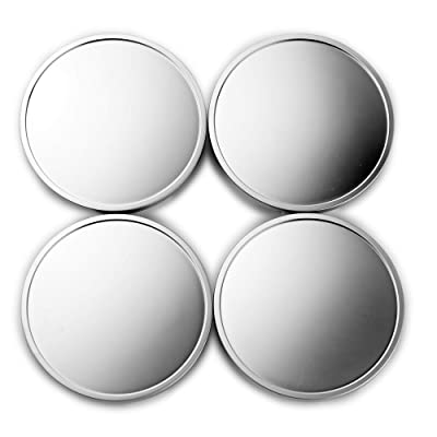 65mm ABS Car Wheel Center Hub Caps Base Set of 4 Matt Pearl Style: Automotive