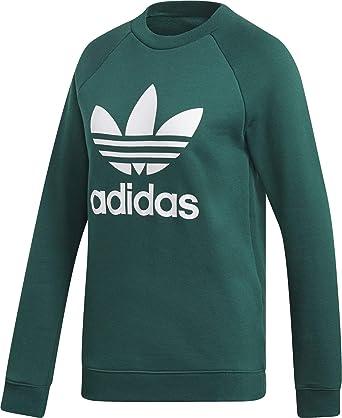 529a30abee8f6 adidas Originals Sweatshirt Damen Trefoil Crew Sweat DV2623 Grün, Size:32