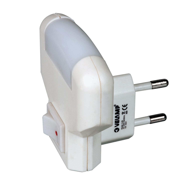 Punto luce LED (colore:bianco) con interruttore TWILIGHT IL09 VELAMP f07-IL09LED