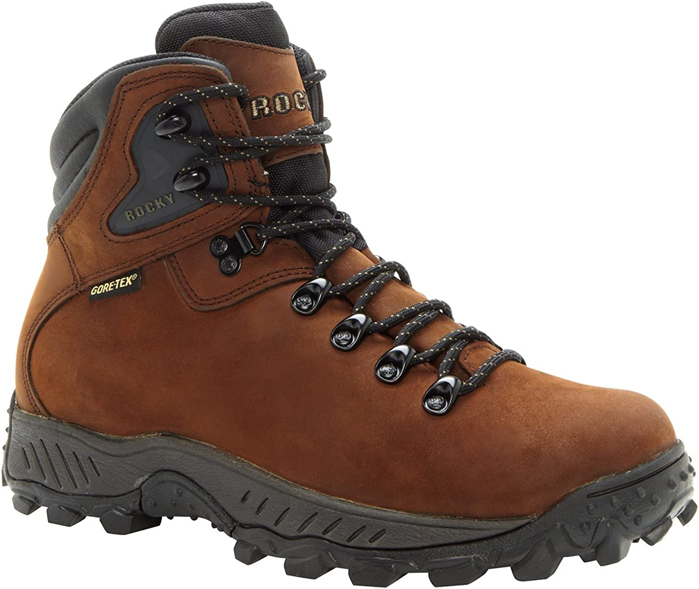Rocky Men s RidgeToe Gore-Tex Waterproof Hiker Boots-5212 W8.5 Dark Brown