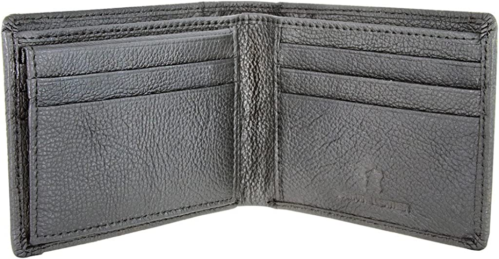 Vintage Grey Genuine Leather Antique Silver Concho Bifold Wallet