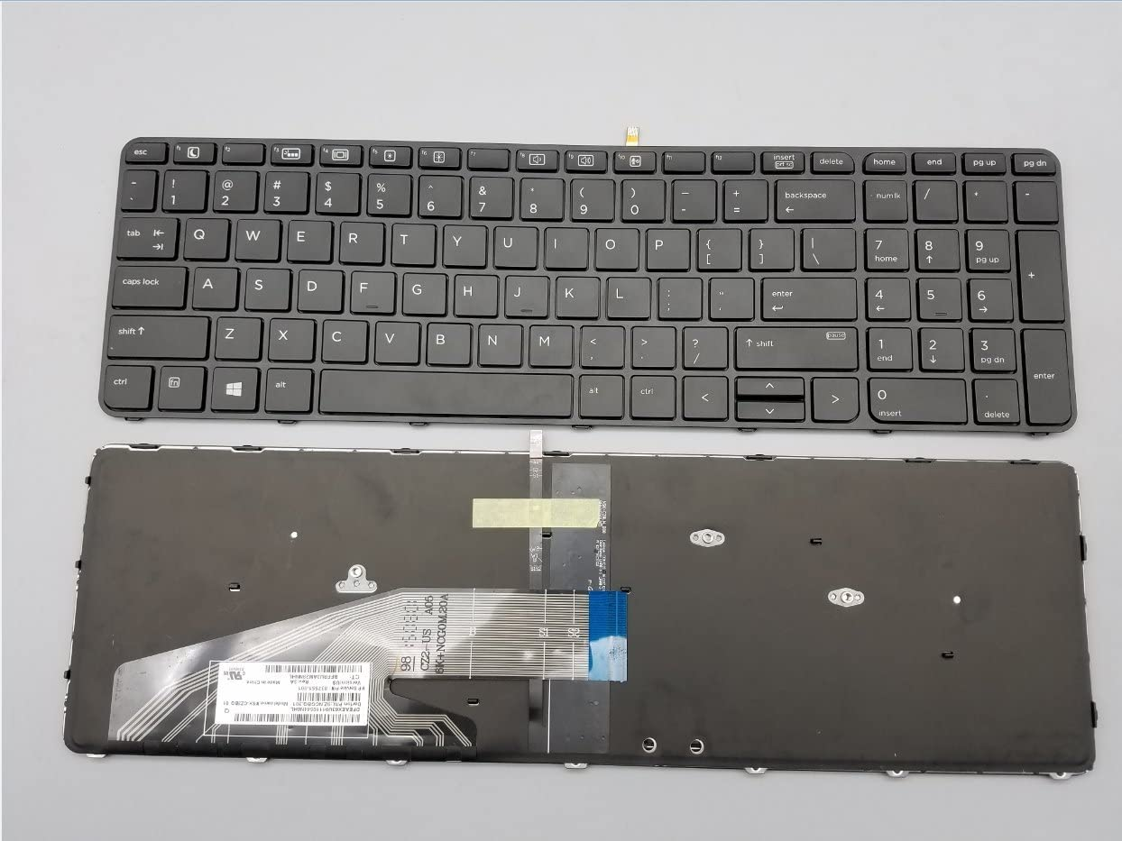 Keyboard go go go Replacement Keyboard for HP ProBook 450 G3 / 455 G3 / 470 G3 Laptop with Frame Backlight 450 G3