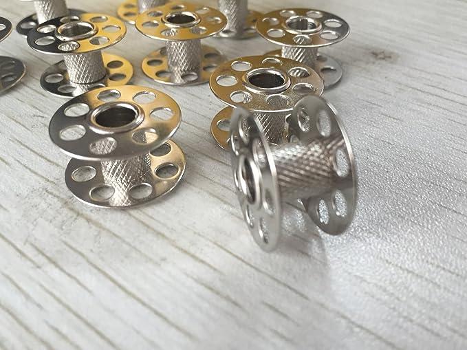 ZickZackNaehmaschine Bobinas de Metal pl/ástico Bobinas para m/áquina de Coser Bernina 10/St.