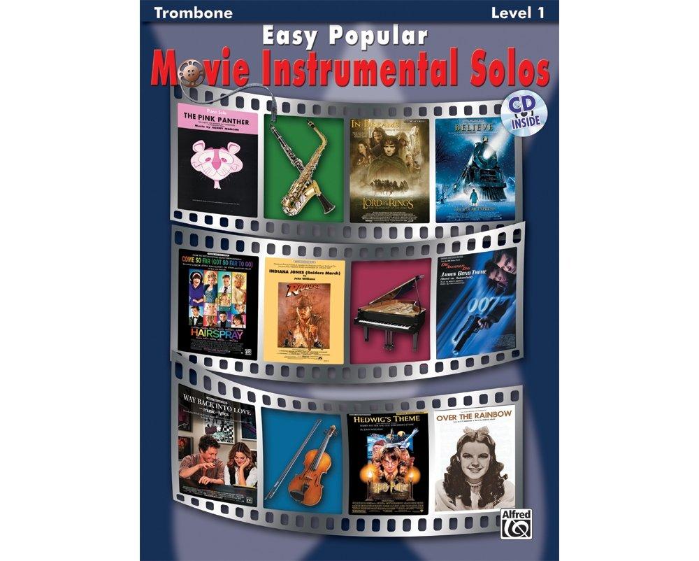 Alfred Easy Popular Movie Instrumental Solos Trombone