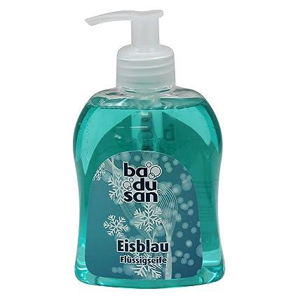 badusan – Jabón líquido Hielo Azul 300 Ml, Fluido Jabón Jabón de manos Jabón dispensador