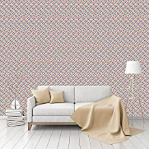 Colorama Patterned Peel & Stick Smooth Wallpaper by CustomWallpaper.com