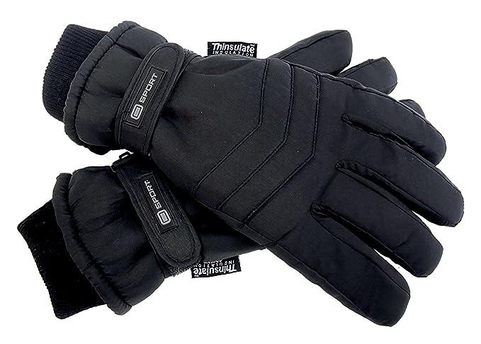 644a31203b5285 Thinsulate Herren 3M Schwarz Thermo Leicht Wasserdicht Extra Warm Outdoor  Skihandschuhe mit Handschlaufe für Winter: Amazon.de: Bekleidung