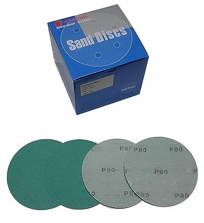 P2000 Oslong Green Film 6-Inch Hook and Loop Sanding Disks 10-Pack grits 40-3000