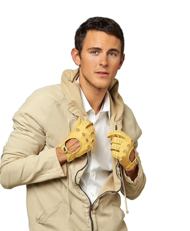Fratelli Orsini Mens Handsewn Deerskin Driving Gloves