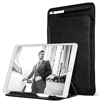 new style 2d524 d2506 Ayotu Case for iPad Pro 11 inch /10.5 inch/ 9.7 inch,with Pencil Holder &  Angle Viewing Microfiber Leather Sleeve Trifold Stand Bag for Apple iPad  Pro ...