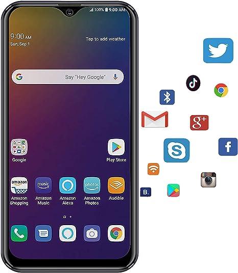 """Moviles Libres 4G Android 9.0 (Certificación Google GMS) 3GB RAM+32GB ROM/128GB Smartphone Libre 5.5"""" HD Pantalla, Tres Tarjetas: 2X MicroSIM + TF, WiFi GPS Móviles y Smartphones Libres -Negro: Amazon.es: Electrónica"""