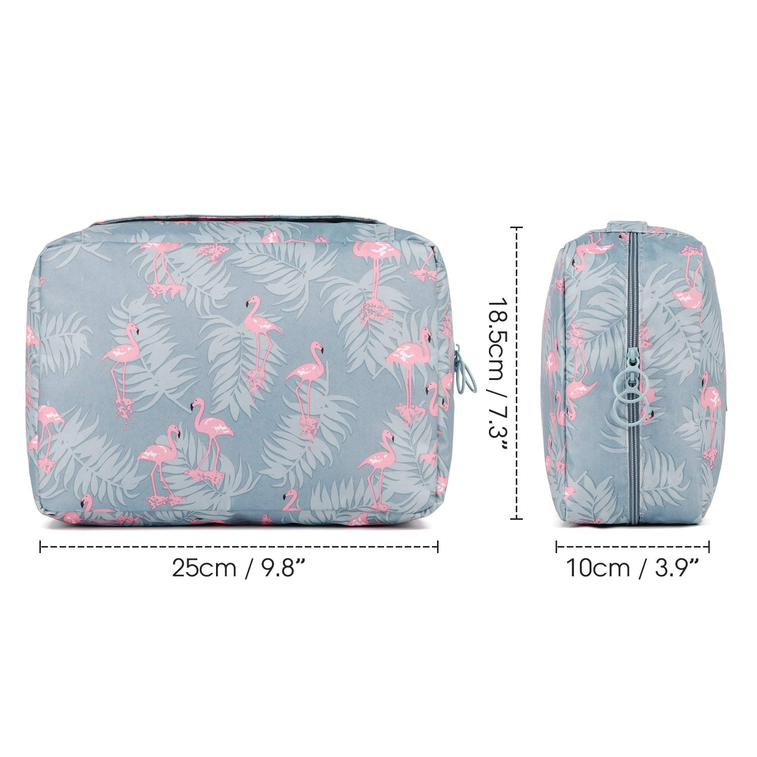 Flamingo Travel Toiletry Bag, Waterproof Hanging Cosmetic Bag Organizer for Women